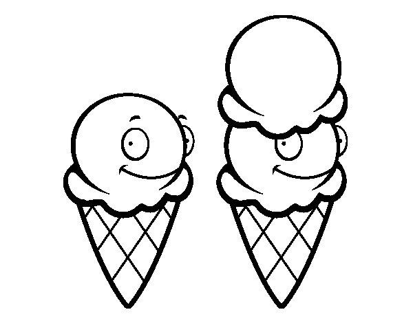 ice cream cones coloring page  coloringcrew