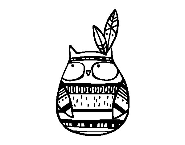 Indian Owl coloring page