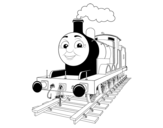 James the red engine coloring page