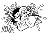 June coloring page