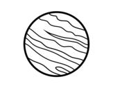 Dibujo de Jupiter planet