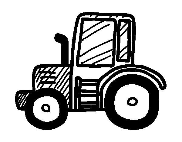 Lamboghini tractor coloring page