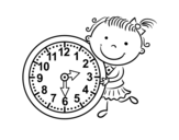 Learn the hours coloring page