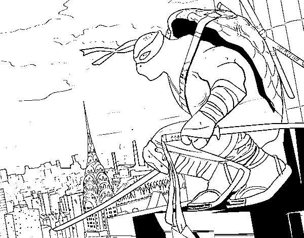 Ninja Turtles Coloring Pages Leonardo