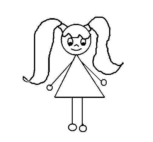 Little girl 12 coloring page Coloringcrewcom