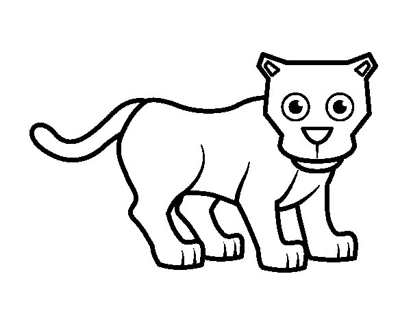 Little panther coloring page