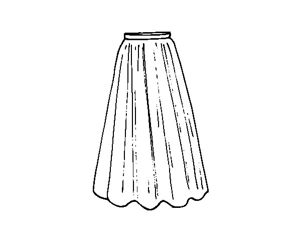 Long skirt coloring page - Coloringcrew.com