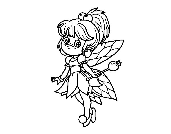 magical fairies coloring pages - photo#26
