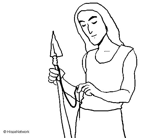 Making weapons coloring page