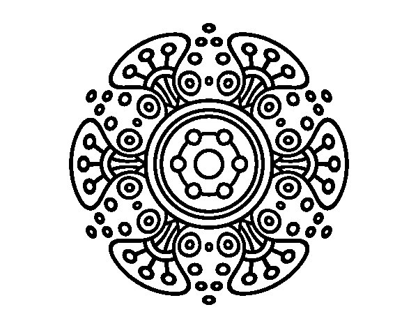 Mandala distant world coloring page