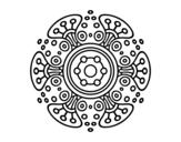 Mandala distant world coloring page