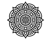 Mandala fire points coloring page