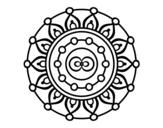 Mandala meditation coloring page