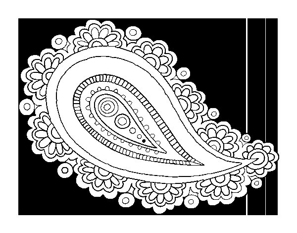 Mandala teardrop coloring page