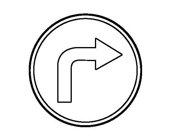 Mandatory direction to the right coloring page