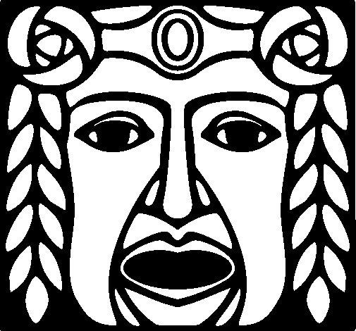 Maya  Mask coloring page