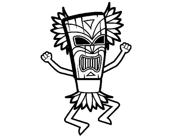 Mayan God coloring page