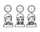 Meal times coloring page