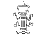 Mechanical robot coloring page