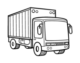 Merchandise truck coloring page