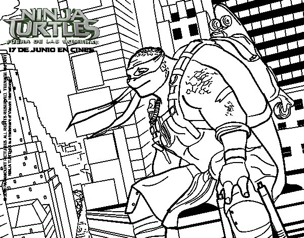 Michelangelo  Nija Turtles coloring page
