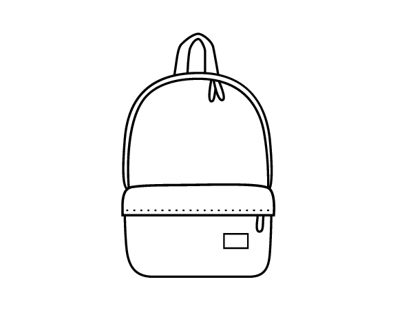 Modern Backpack coloring page Coloringcrewcom