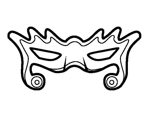 Modern mask coloring page
