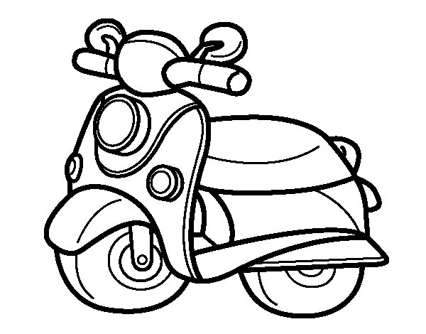 Motorcycle Vespa coloring page