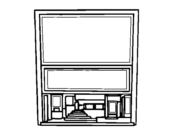 movie theater coloring pages - photo#27