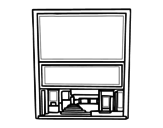 Movie theater coloring page