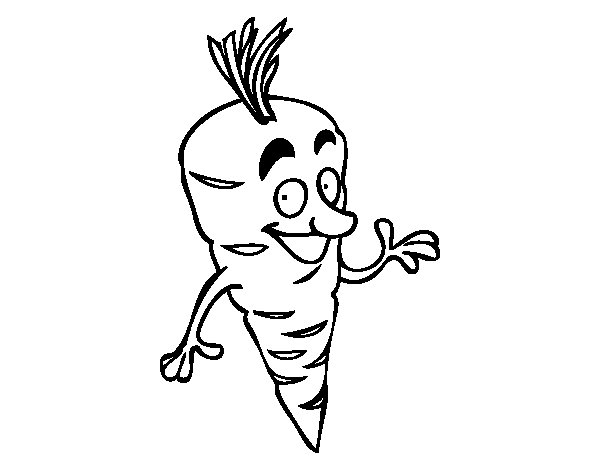 Mr. Carrot coloring page
