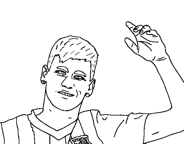 soccer coloring pages neymar skills - photo#27