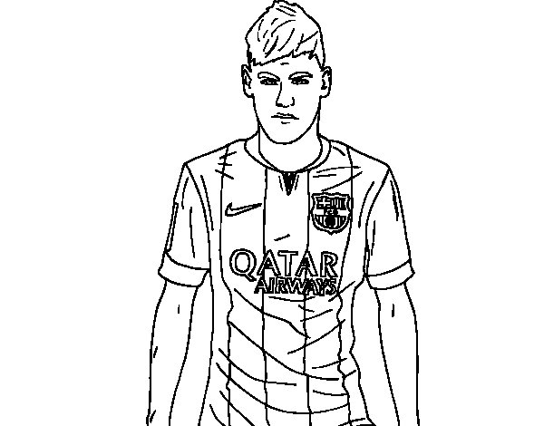 soccer coloring pages neymar barcelona - photo#3