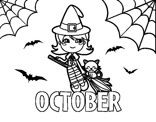 October Coloring Pages Fascinating October Coloring Page  Coloringcrew Design Inspiration