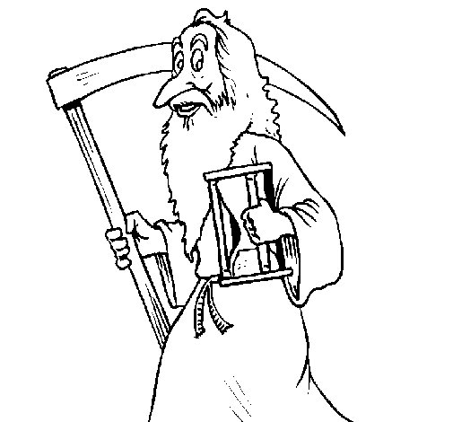 Old Father Time coloring page