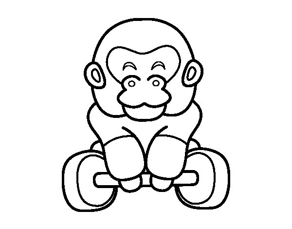 Olympic weightlifting coloring page