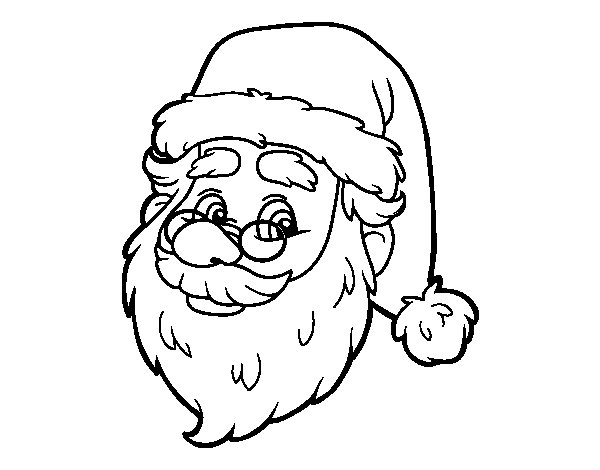 One Santa Claus face coloring page