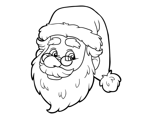 one santa claus face coloring page coloringcrewcom - Santa Claus Face Coloring Pages