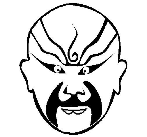 Oriental wrestler coloring page