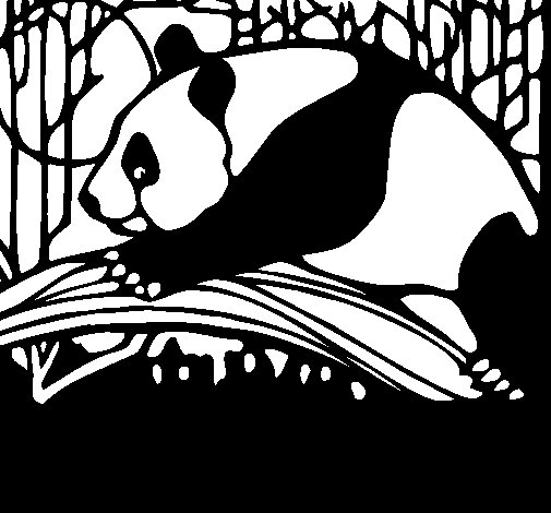 Panda eating coloring page