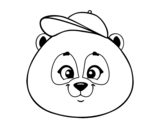 Dibujo de Panda face with hat
