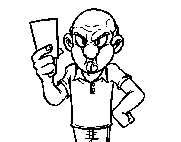 Penalty card coloring page
