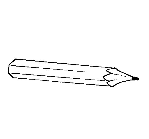 Pencil coloring page Coloringcrewcom