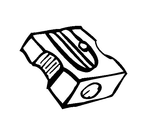 Pencil sharpener coloring page for Pencil sharpener coloring page