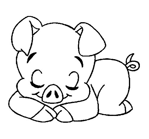 piglet coloring page - coloringcrew.com - Coloring Pages Pigs Piglets
