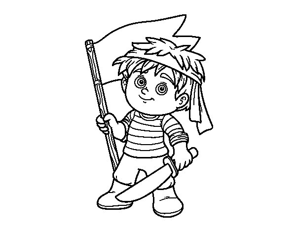 Pirate Grumete coloring page