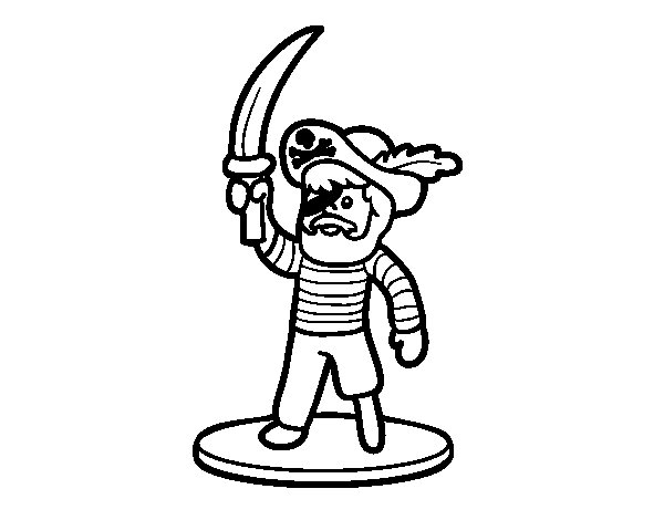 Pirate Toy coloring page