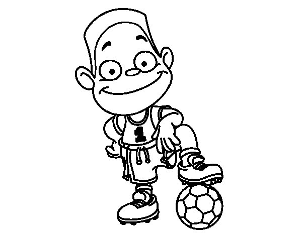 Player number 1 coloring page
