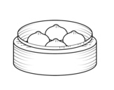 Pork buns coloring page