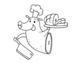 Pork Meat coloring page